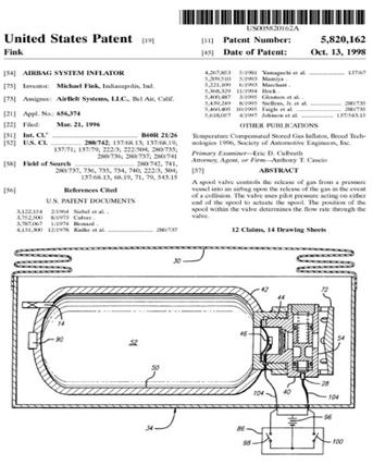 US-airbag-patent